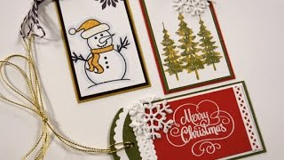 Sparkling Christmas Tags