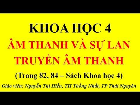KHOA HỌC LỚP 4 - ÂM THANH VÀ SỰ LAN TRUYỀN ÂM THANH