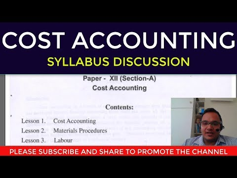 Cost Accounting::Syllabus Discussion - YouTube