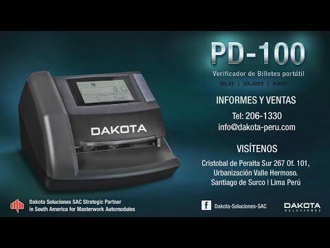 Verificador, Contador, Detector portátil de Billetes PD 100