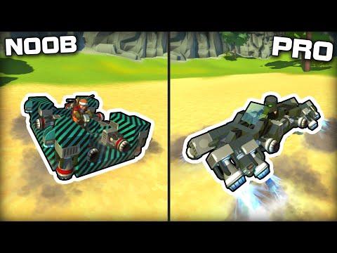 NOOB vs PRO Hovercraft Racing! (Scrap Mechanic Gameplay)