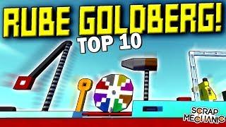 Best Rube Goldberg Machines Results! - Scrap Mechanic Gameplay