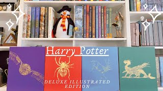 HARRY POTTER DELUXE ILLUSTRATED EDITION BOOKS BY JIM KAY | FLIP THROUGH