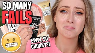 SO MANY FAILS!! TESTING NEW DRUGSTORE MAKEUP... YIKESSS