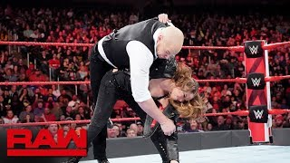 As Braun Strowman strikes a deal with Raw Commissioner Stephanie McMahon, The Baddest Woman on the Planet puts the Acting GM in his place.  #Raw  GET YOUR 1st MONTH of WWE NETWORK for FREE: http://wwenetwork.com --------------------------------------------------------------------- Follow WWE on YouTube for more exciting action! --------------------------------------------------------------------- Subscribe to WWE on YouTube: http://bit.ly/1i64OdT Check out WWE.com for news and updates: http://goo.gl/akf0J4 Find the latest Superstar gear at WWEShop: http://shop.wwe.com --------------------------------------------- Check out our other channels! --------------------------------------------- The Bella Twins: https://www.youtube.com/thebellatwins UpUpDownDown: https://www.youtube.com/upupdowndown WWEMusic: https://www.youtube.com/wwemusic Total Divas: https://www.youtube.com/wwetotaldivas ------------------------------------ WWE on Social Media ------------------------------------ Twitter: https://twitter.com/wwe Facebook: https://www.facebook.com/wwe Instagram: https://www.instagram.com/wwe/ Reddit: https://www.reddit.com/user/RealWWE Giphy: https://giphy.com/wwe