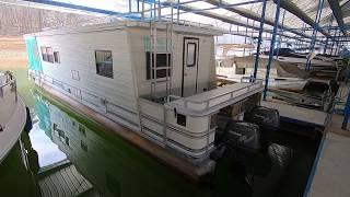 1992 Aqua Chalet 10 X 40WB Pontoon Houseboat For Sale On Norris Lake TN - SOLD!