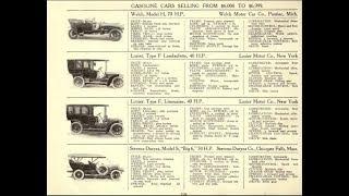 Каталог 1907 г: 800 моделей авто на электричестве, паре и газолине.