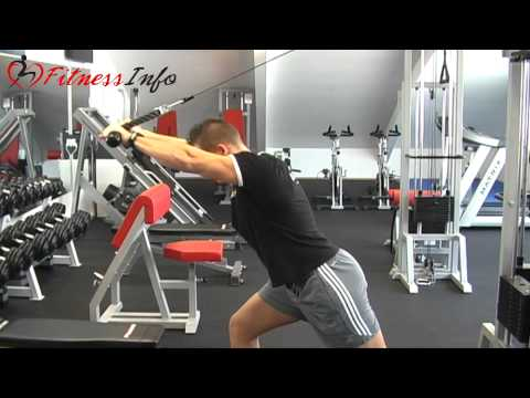 Bent-over triceps extension with rope attachment