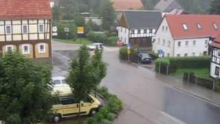 preview picture of video 'Hochwasser in Bertsdorf am 07.08.2010'