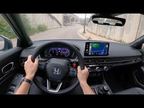 2022 Honda Civic Sport Touring Manual Hatchback - POV Test Drive (Binaural Audio)
