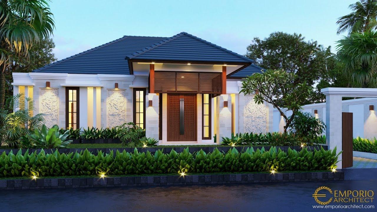 Video 3D Desain Rumah Villa Bali 1 Lantai Bapak Anwar II di Palangka Raya, Kalimantan Tengah