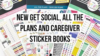 NEW Caregiver, All the Plans and Get Social Happy Planner Sticker Books // Flip Through and Review