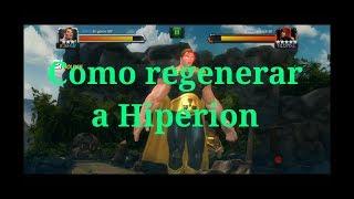 Como regenerar a Hiperion/Marvel Batalla de Superheroes
