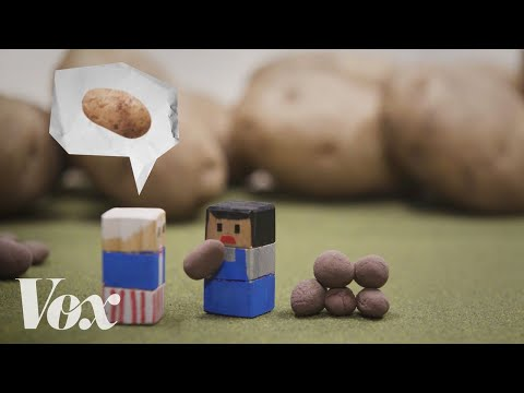 , title : 'The 70% top tax rate, explained with potatoes