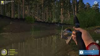 Русская рыбалка 4 - река Вьюнок - Пробую разные блесны под обрывом