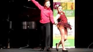 """Ballroom Blitz"" perform in the Group Dance category"