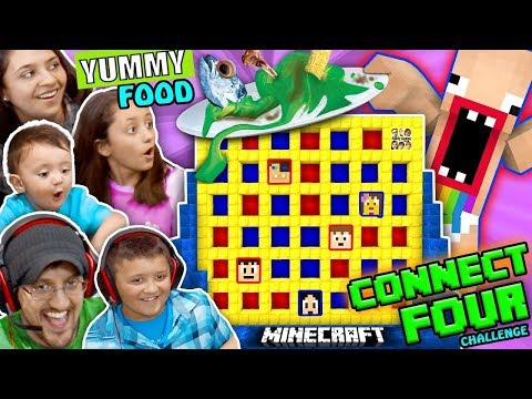 FGTEEV MINECRAFT CONNECT 4 FAMILY GAME NIGHT CHALLENGE! LOSERS EAT GROSS FOOD WAGER GAME w/ BARF  😜