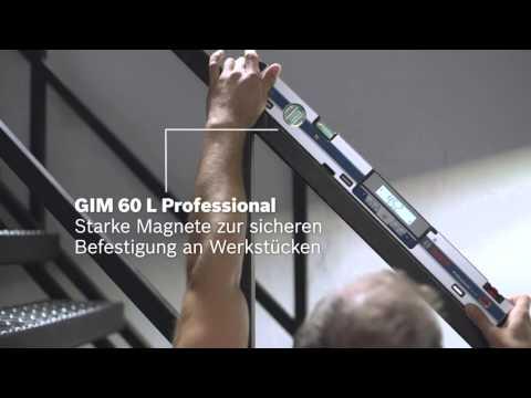 Bosch Digitale Neigungsmesser GIM 60 / GIM 60 L / GIM 120 Professional