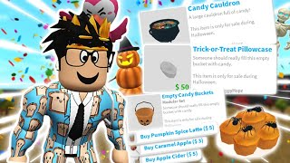 THE NEW BLOXBURG HALLOWEEN UPDATE! NEW FOODS, TRICK OR TREATING AND MORE!