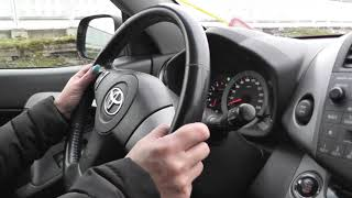 Урок Вождения по вращению руля и работа с педалиями для разворотов