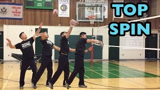 Arm Swing Mechanics : Top Spin + Solid Contact (part 22)   How To SPIKE A Volleyball Tutorial