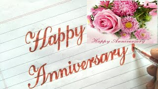 Happy Anniversary Fonts stylish writing | How to make happy anniversary gift card|RUAsignwriting