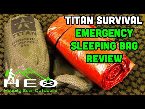 Titan Survival Emergency Sleeping Bag Review