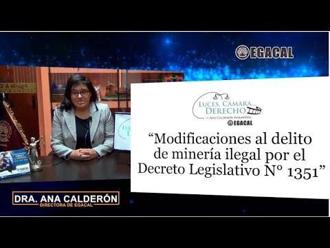 Programa 54 - Modificaciones al delito de minería ilegal - Luces Cámara Derecho  EGACAL