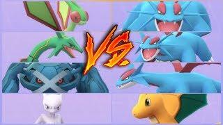 Slowking  - (Pokémon) - POKEMON GO SALAMENCE VS RAYQUAZA METAGROSS MEWTWO FLYGON SLOWKING & MORE