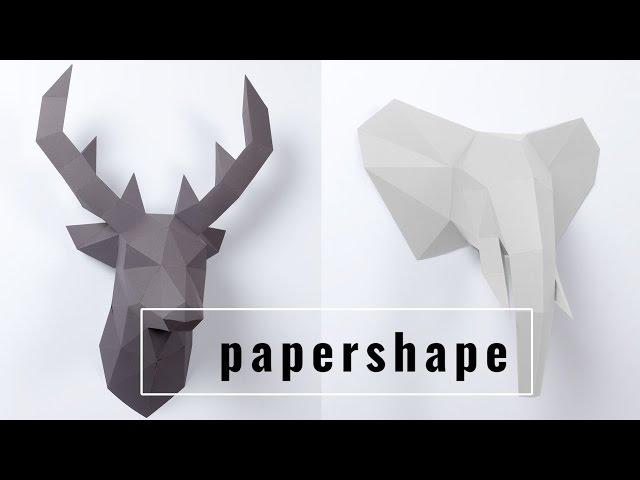 Papershape Tierkopf Wanddeko Aus Papier Aus Die Hohle Der Lowen