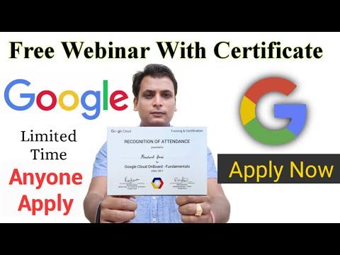 free course with certificate   Google free Webinar   cloud   machine ...