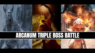 Skyrim LE - Arcanum Triple Boss Battle