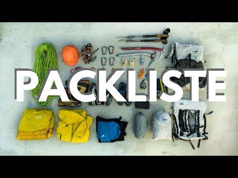 Ausrüstung & Packliste für Hochtouren (z.B. Mont Blanc), Gletschertouren und Bergsteigen über 4.000m