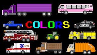 Vehicle Colors - Featuring Street Vehicles - The Kids' Picture Show (Fun & Educational)