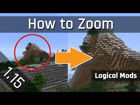 How to Zoom with my Logical Zoom Mod | Minecraft 1.15