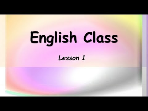 Learn beginning basic English ESL class lesson 1
