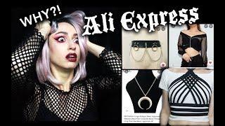 I SPENT OVER $100 AT ALIEXPRESS   Goth Aliexpress Haul :D
