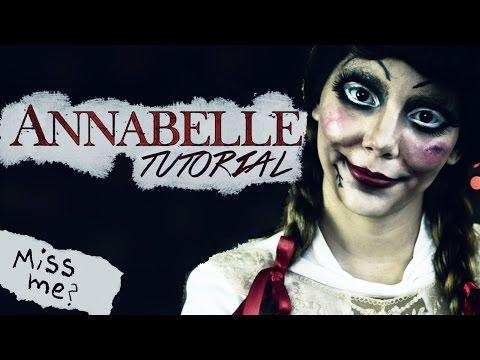 Tutorial Maquillaje para Halloween de Muñeca Annabelle con Disfraz ♥ Jimena Aguilar