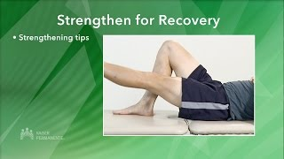 Managing Your Knee Pain - Strengthen for Recovery