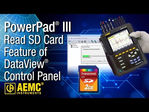 AEMC® - Read SD Card Feature of DataView® PowerPad III Control