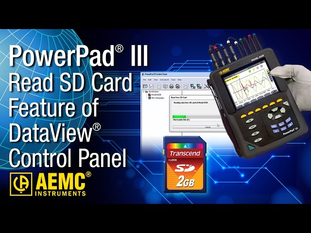 AEMC® - Read SD Card Feature of DataView® PowerPad III Control  at Electricity Forum