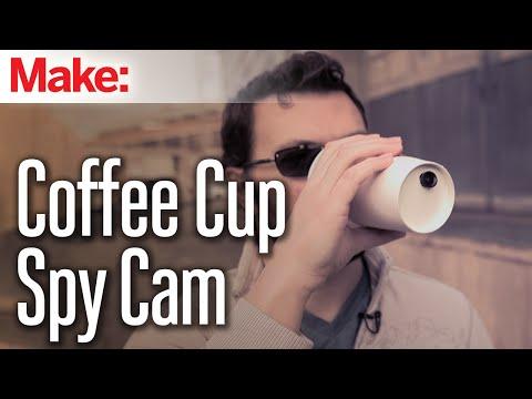 Build A Spy Camera Inside A Coffee Cup