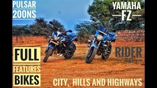 Pulsar 200NS And Yamaha FZ 150 | Full Features | Comparison| Review.