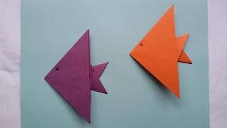 Origami Fish Tutorial - Pez De Papel. Papiroflexia