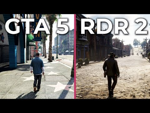 Red Dead Redemption 2 (Xbox One X) vs  GTA 5 (PC 4K Ultra) Graphics