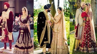 Punjabi Bride And Groom Outfit Ideas||Matching Punjabi  Wedding  Outfit Ideas||Punjabi Wedding