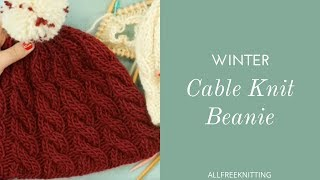 Cable Knit Beanie For Winter