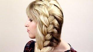 Плетение легкой французской косы на одну сторону - Видео онлайн