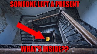 FOUND ABANDONED MYSTERY PRESENT HIDDEN IN ABANDONED HOUSE! OPENING PRESENT LEFT ABANDONED FOR YEARS!