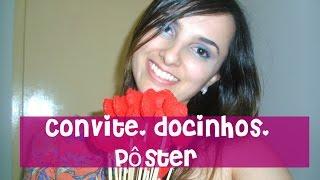 Casamento:Convite- Docinhos(fôrminhas) - Pôster   ♥ por Marina Macedo ♥